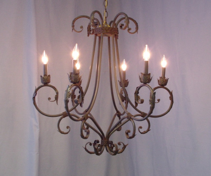 Chandelier Online – Rustic Wrought Iron Chandelier