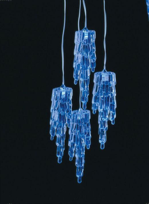 Blue Icicle Lights On Winlights Com Deluxe Interior