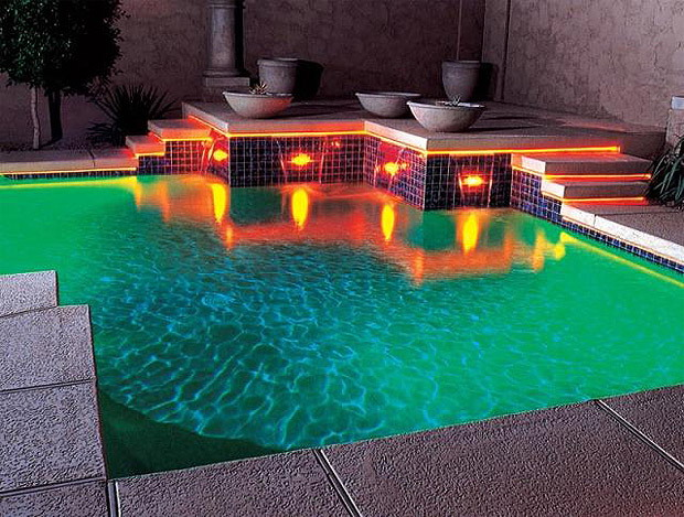 Swimming Pool Fixtures : Floating pool light on winlights deluxe interior