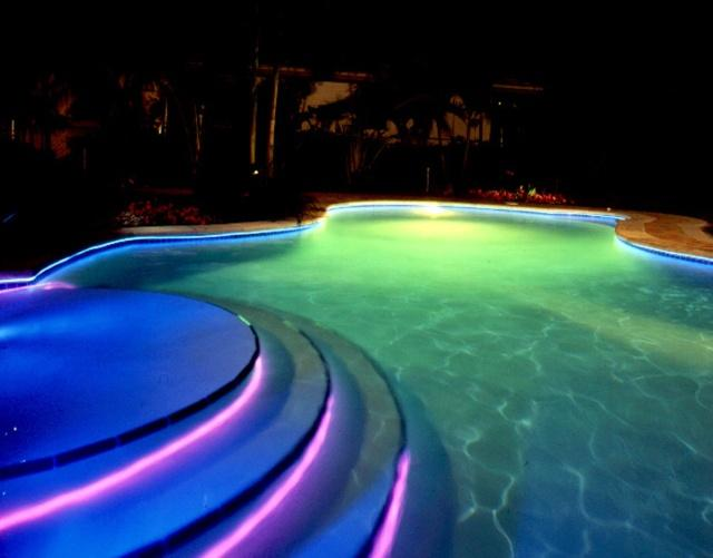 Fiber Optic Pool Lights On Winlights Com Deluxe Interior