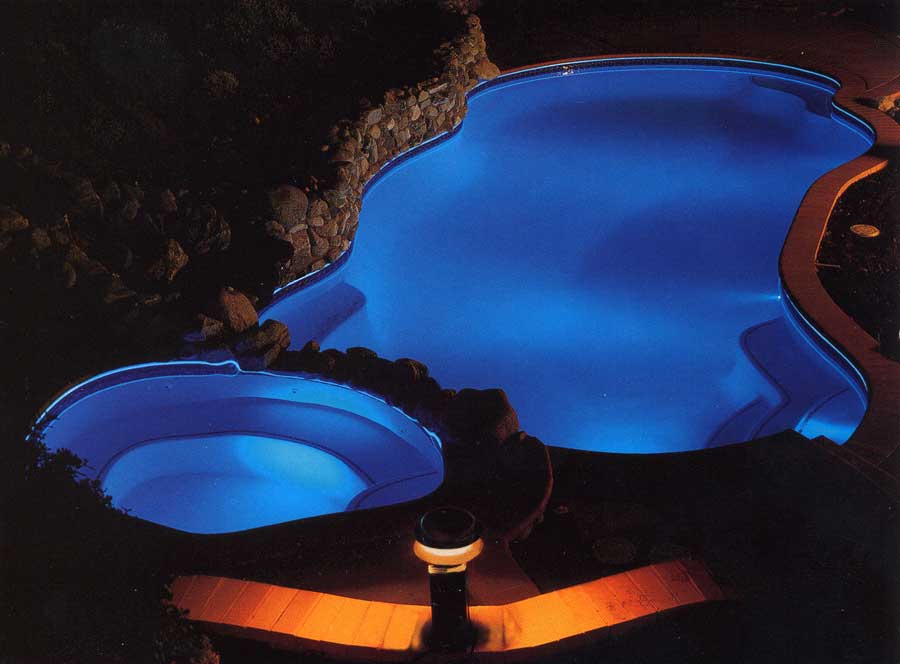Pool deck lighting ideas on deluxe for Above ground pool lighting ideas