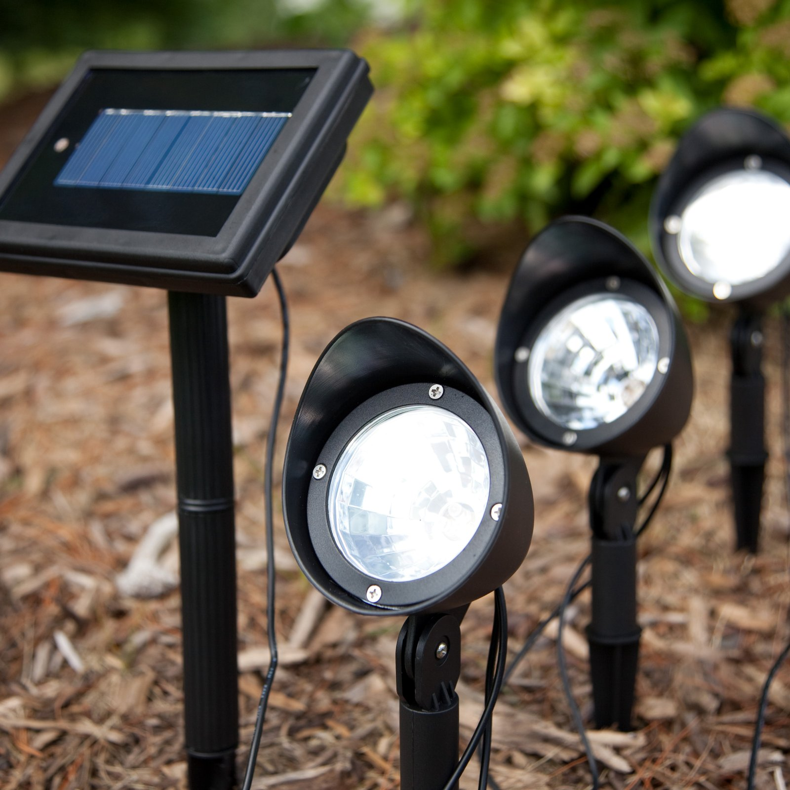 outdoor motion solar spotlights on deluxe. Black Bedroom Furniture Sets. Home Design Ideas