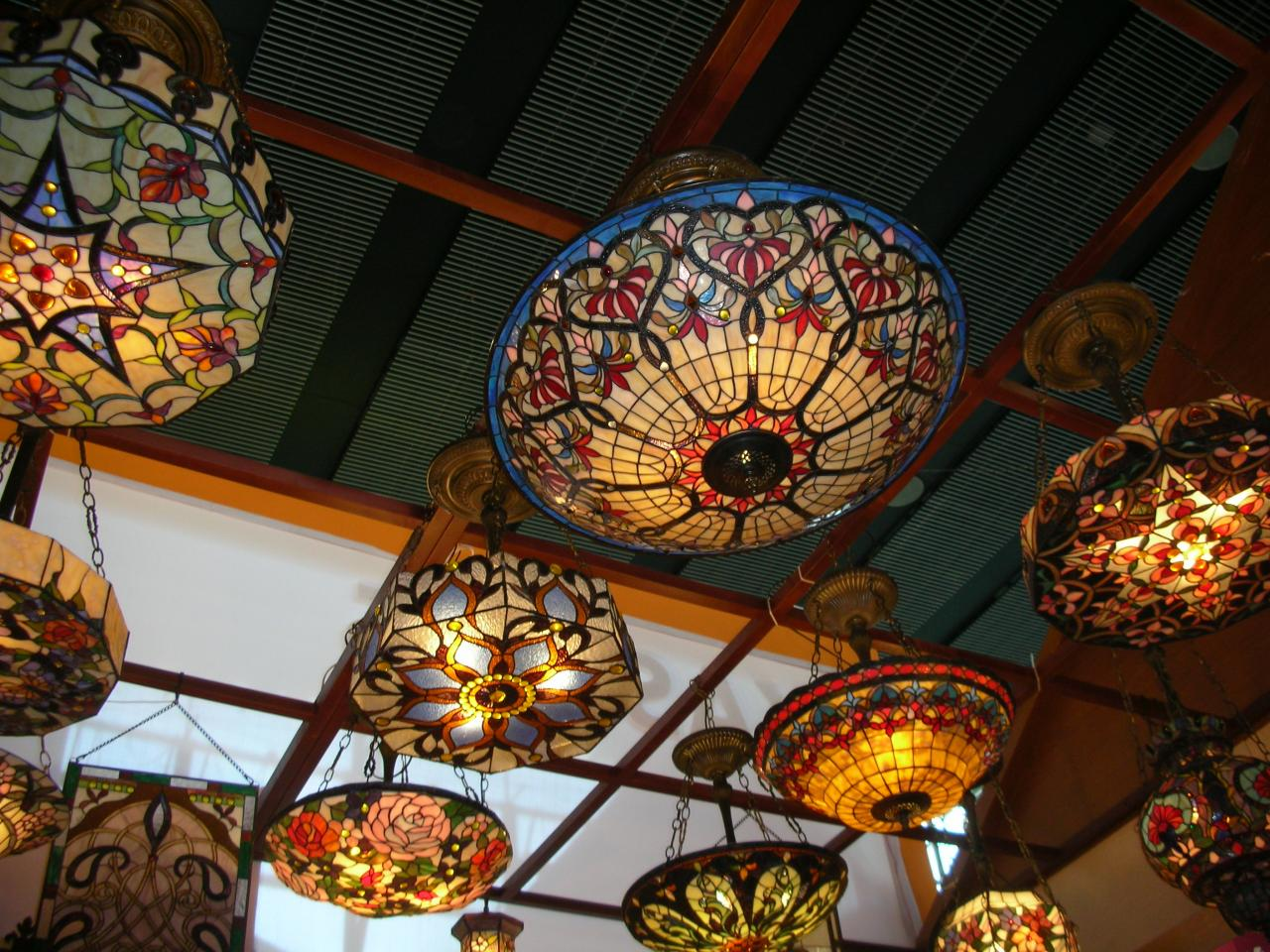 Ceiling lights stained glass 101